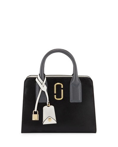 Little Big Shot Saffiano Leather Tote Bag