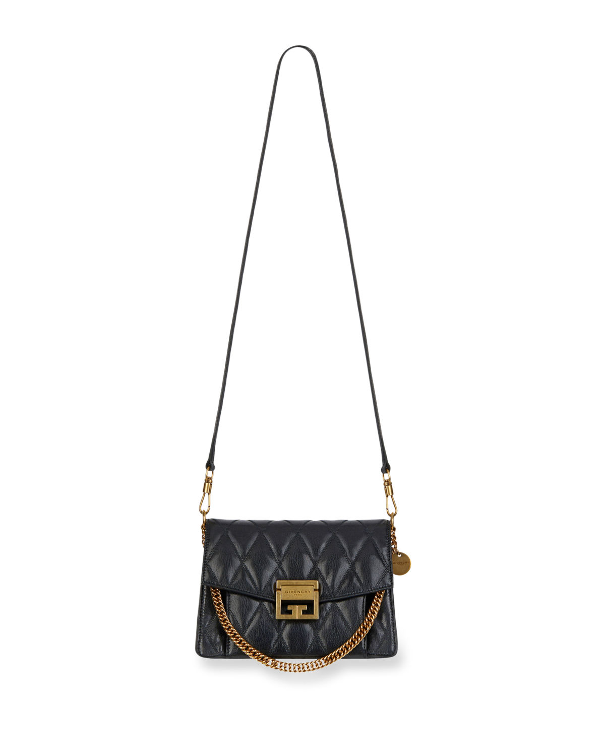 34ab1a7c1b17 Givenchy GV3 Small Quilted Leather Crossbody Bag