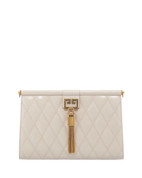 Givenchy Gem Medium Quilted Leather Shoulder Bag In Neutral ... e6950b15ca