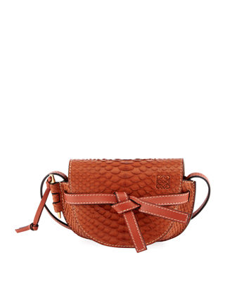 Loewe Gate Mini Python Shoulder Bag