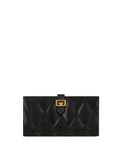GV3 Large Quilted Leather Continental Wallet