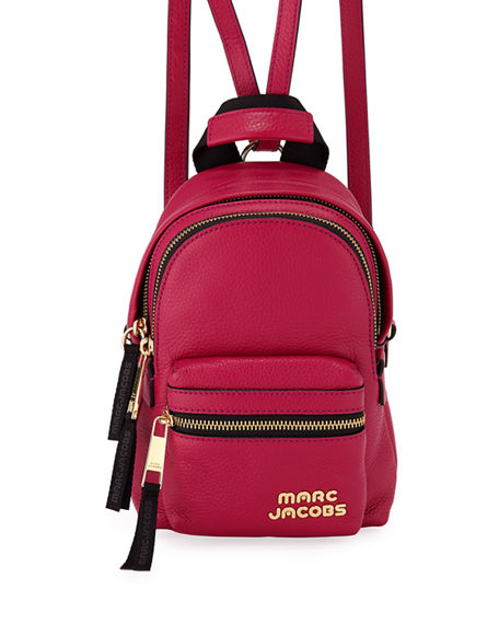 Marc Jacobs Leathers MICRO ZIP LEATHER BACKPACK