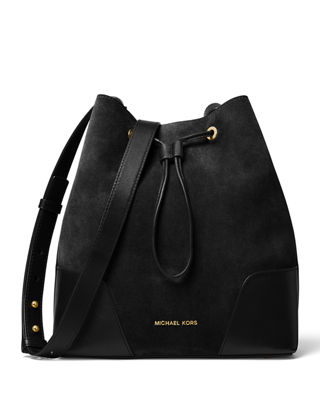 MICHAEL Michael Kors Cary Medium Suede/Leather Bucket Bag