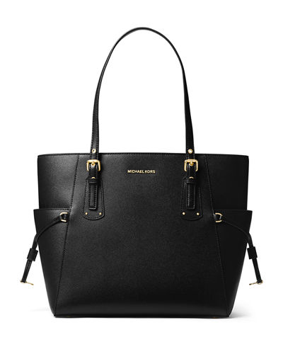 Voyager E/W Signature Saffiano Tote Bag - Golden Hardware