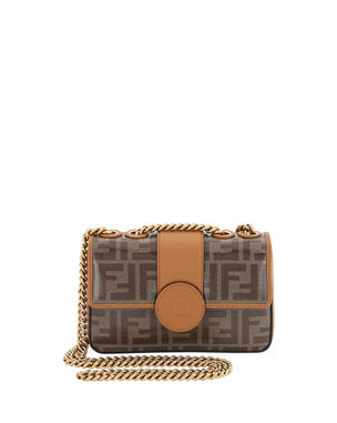 cd6bcd68c194 Fendi 1974 Mini Double F Canvas Crossbody Bag