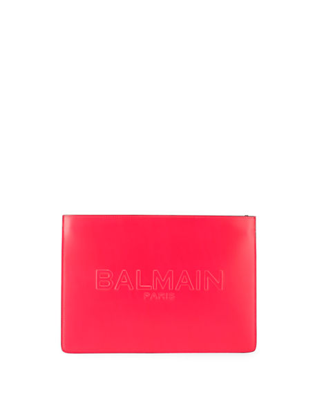 Balmain Domaine Mini Neon Leather Shoulder Bag