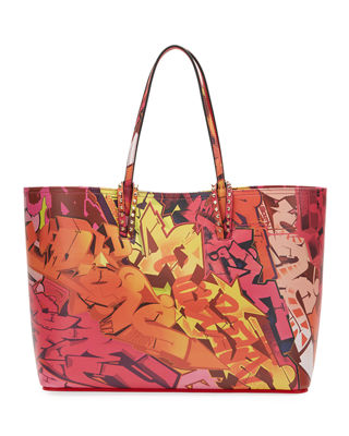 Cabata Paris Metrograf Leather Tote - Pink in Pink Multi