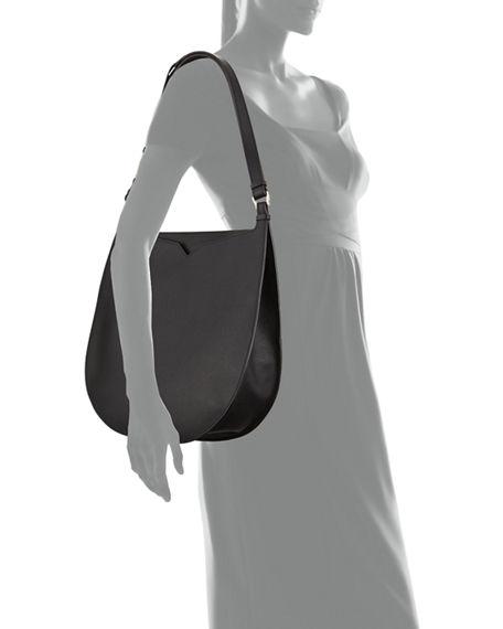 Image 4 of 4: Valextra Weekend Hobo Large Leather Shoulder Bag