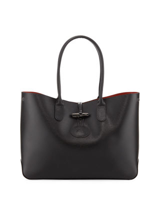 Longchamp Roseau Leather Shoulder Tote Bag