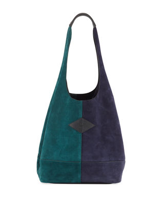 Camden Colorblock Shopper Bag in Forest Multi