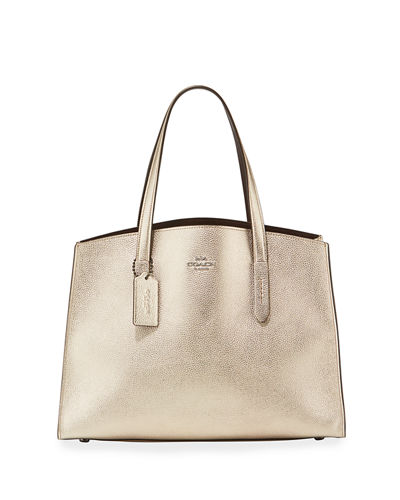 Charlie Metallic Carryall Shoulder Bag