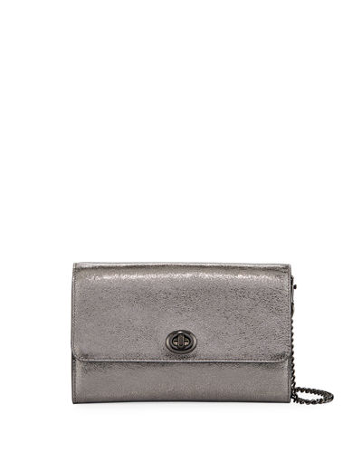ac5feb1d8d20 Quick Look. Coach 1941 · Metallic Leather Turn-Lock Crossbody Bag