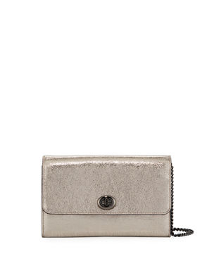 793efa87731b Coach 1941 Metallic Leather Turn-Lock Crossbody Bag