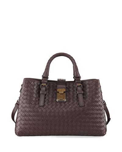 Quick Look. Bottega Veneta · Roma Small Woven Top Handle Bag 12b63a4cf8