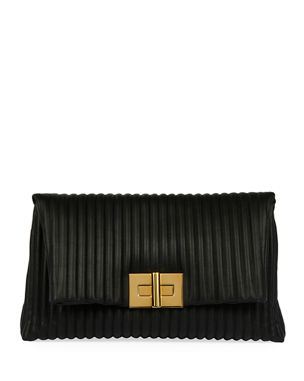 735222ccca2 TOM FORD Quilted Leather Turn-Lock Clutch Bag