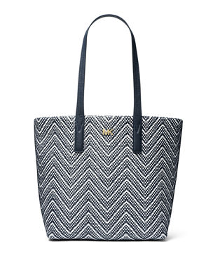 60ec4ed88b41 MICHAEL Michael Kors Junie Large Chevron Tote Bag