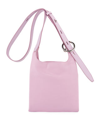 Karlee Small Crossbody Feed Bag in Light Pink