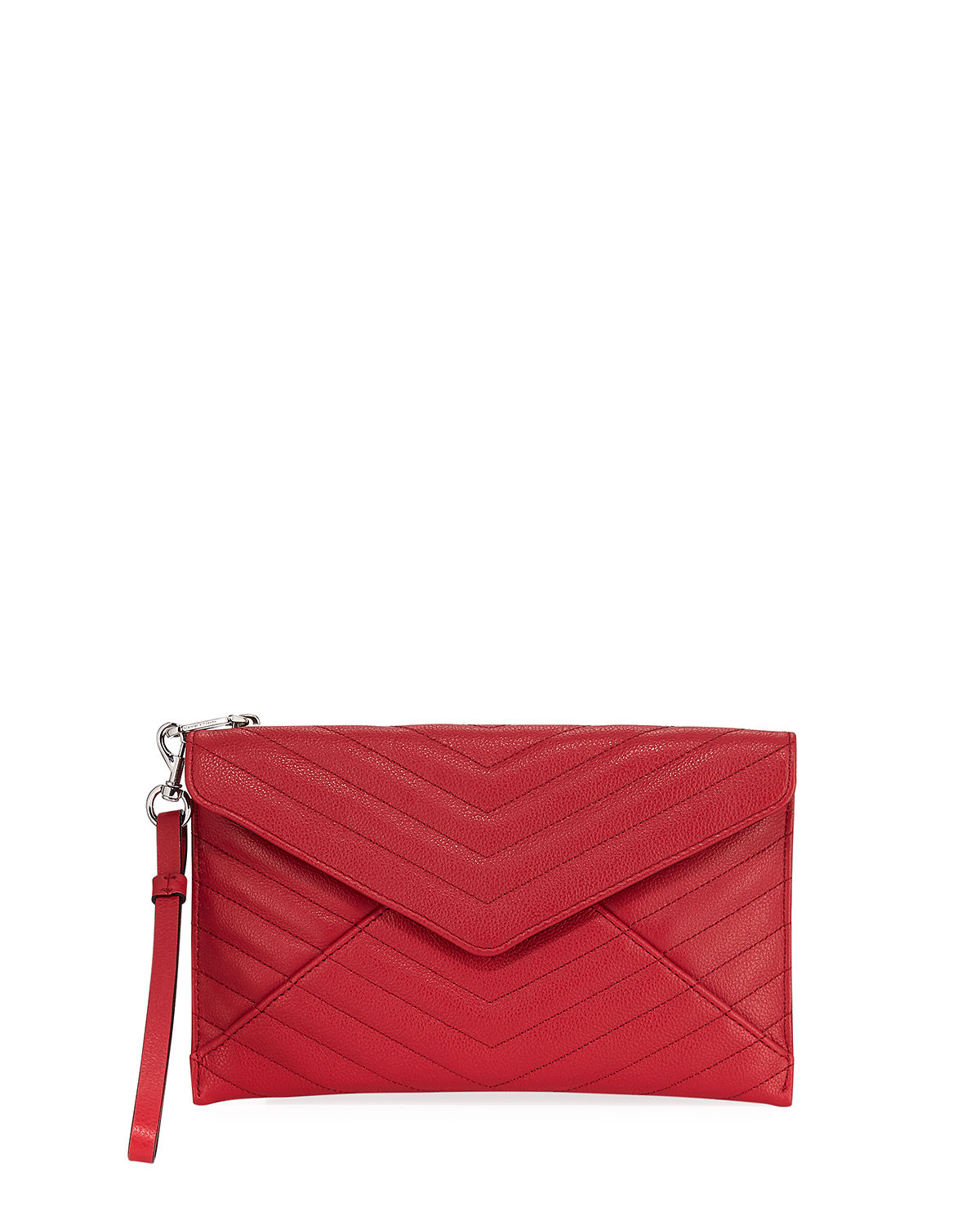 Leo Quilted Leather Wristlet Clutch Bag