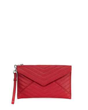 bd1eeb11032c Rebecca Minkoff Leo Quilted Leather Wristlet Clutch Bag