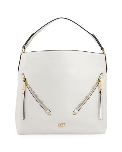 Evie Large Leather Hobo Bag