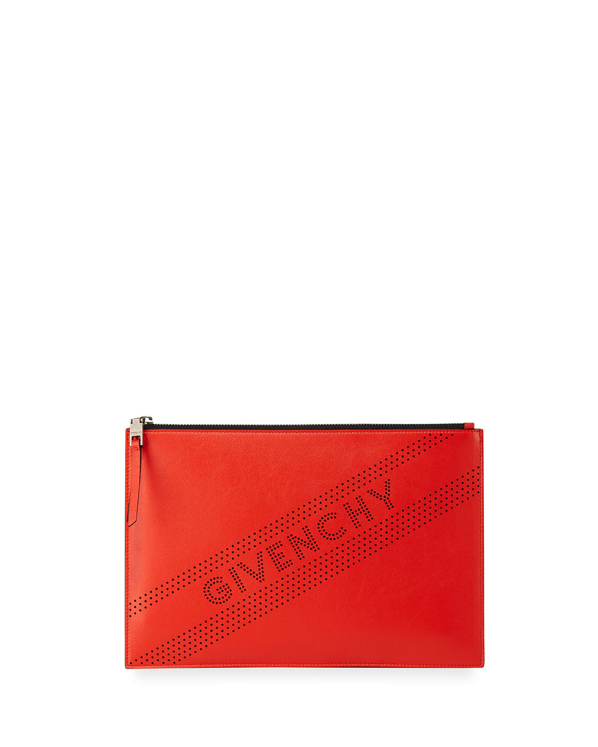 Givenchy Emblem Medium Perforated Leather Pouch Bag  aaf6d6f840303