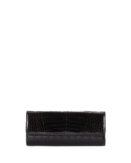Judith Leiber Couture Kate Caiman Crocodile Clutch Bag