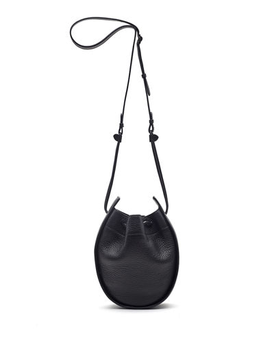 Drawstring Leather Pouch Bag