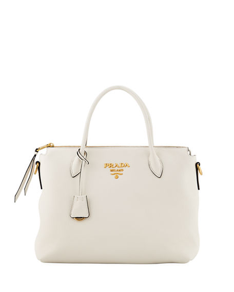 Prada Daino Tote With Top Zip