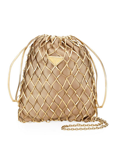 Net Bag With Silk Interior