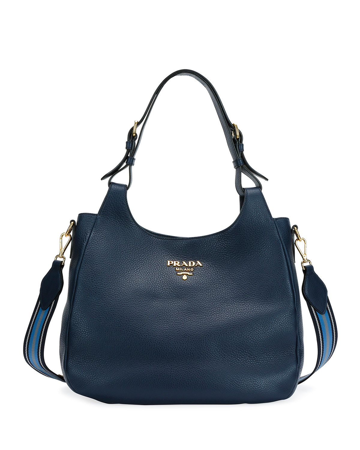 b57122dd1 Prada Daino Hobo Shoulder Bag | Neiman Marcus