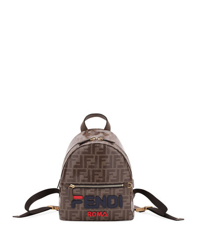 Mini FF Fendi Mania Fabric Backpack