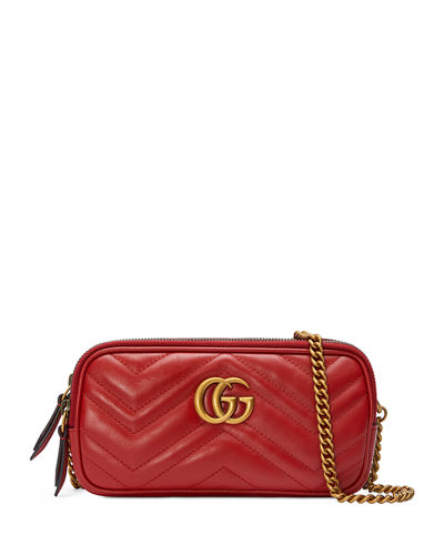 GG Marmont Mini Zip-Top Camera Case Bag