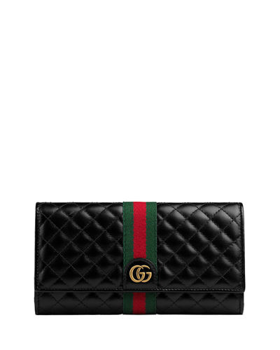 24aec6e4343 Quick Look. Gucci · Quilted Flap Continental Wallet with Web