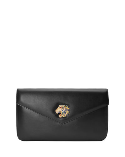 Gucci Leather Envelope Clutch Bag