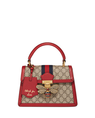 Queen Margaret Small GG Supreme Top-Handle Bag
