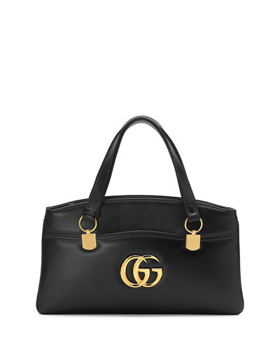 Gucci Arli Large Leather 2 Compartment Top Handle Tote Bag