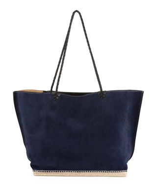 ESPADRILLE LARGE SUEDE SHOULDER TOTE BAG from Neiman Marcus
