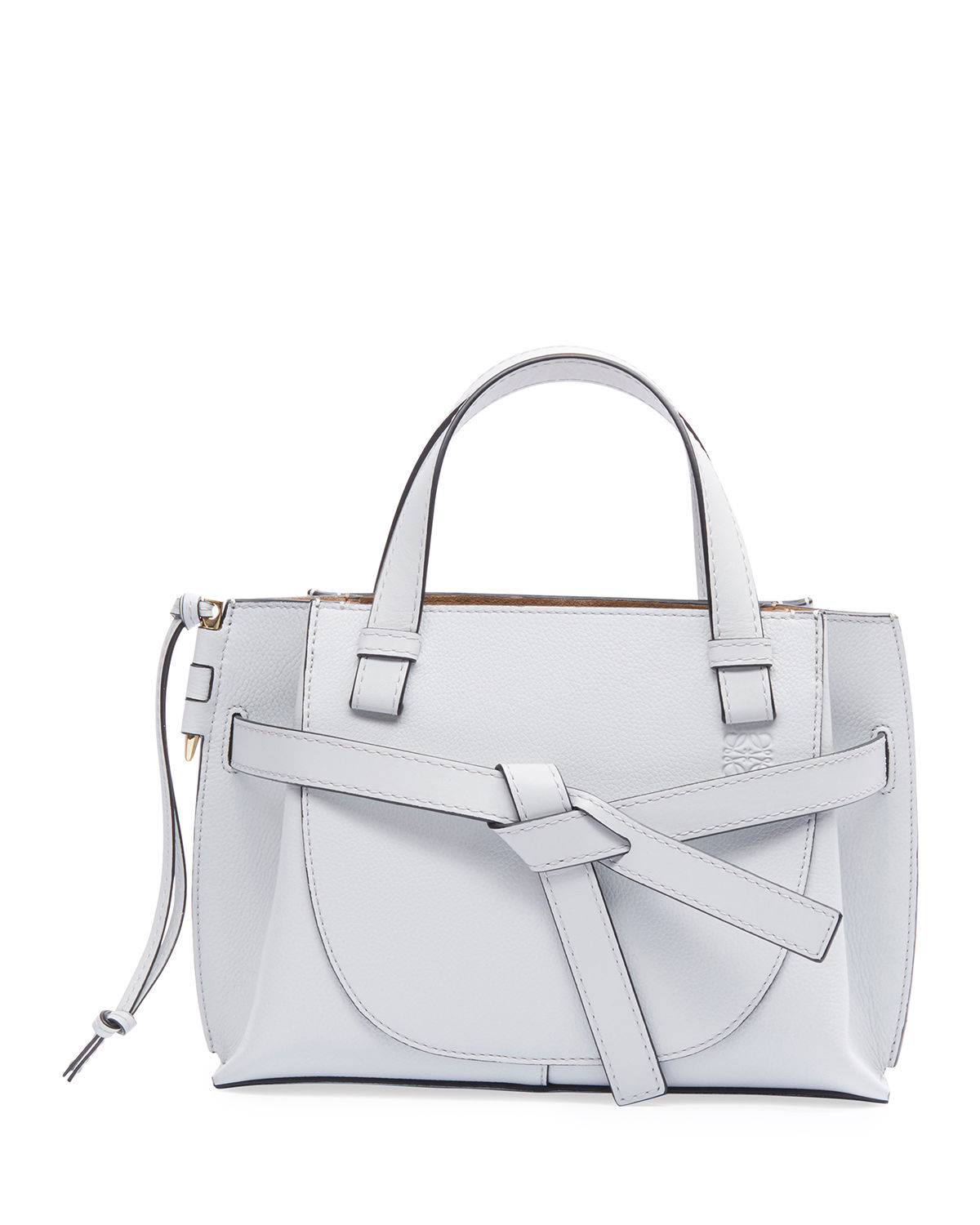 Loewe Gate Small Leather Top-Handle Tote Bag In White