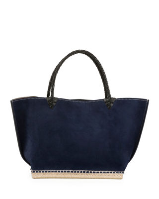 ESPADRILLE SMALL SUEDE TOTE BAG from Neiman Marcus