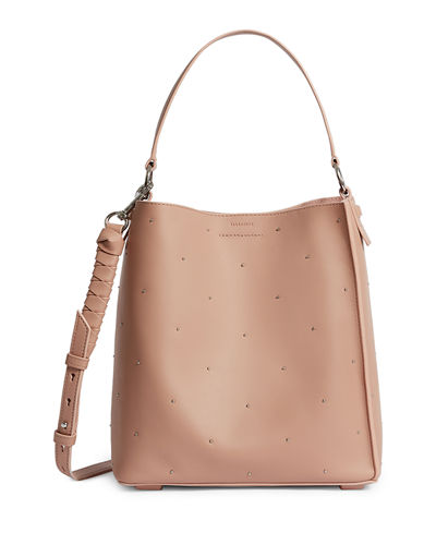 57bc6296e557 Quick Look. AllSaints · Kathi Small Studded Leather Tote Bag