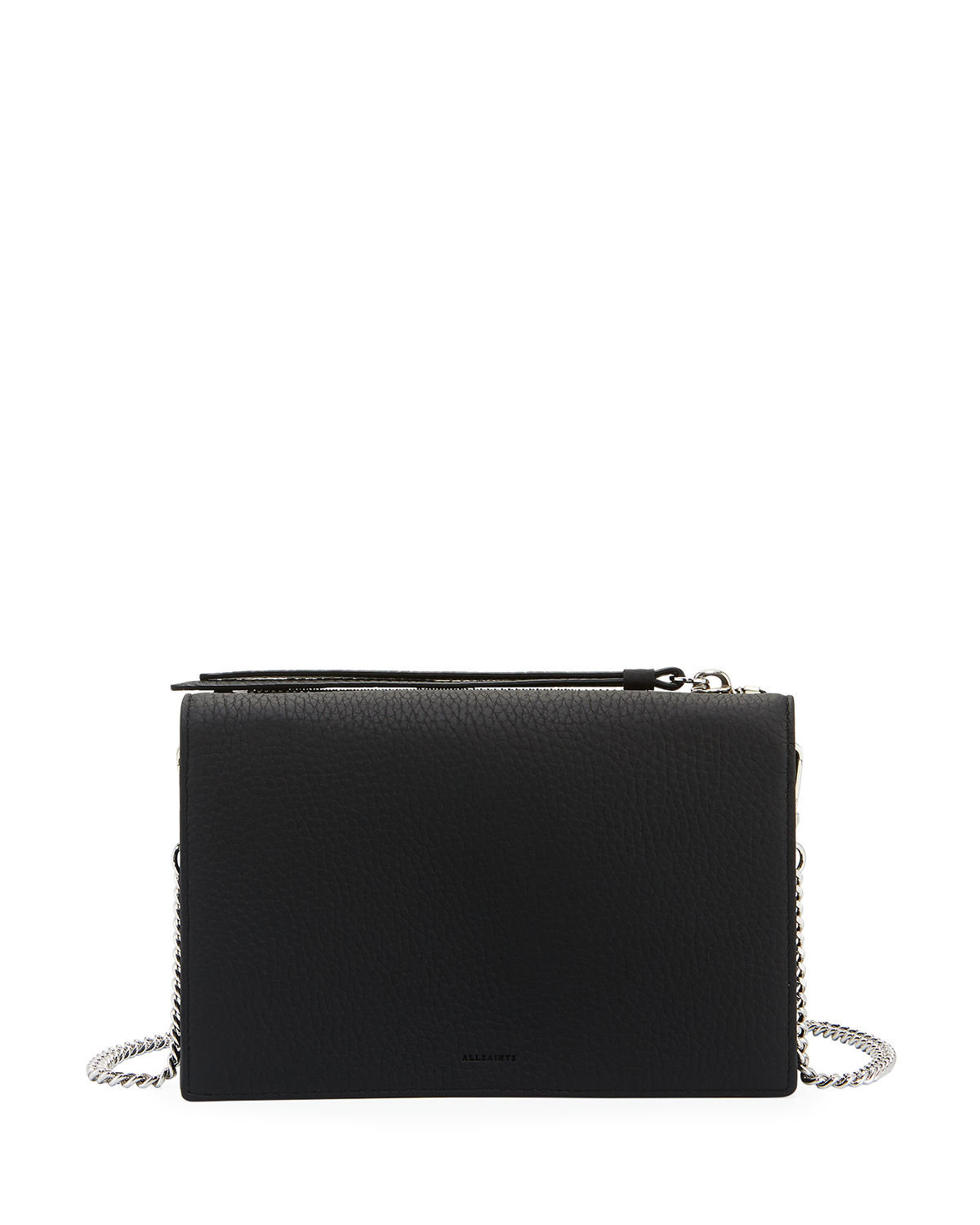 882d419f7c78d4 AllSaints Fetch Chain Wallet Crossbody Bag | Neiman Marcus