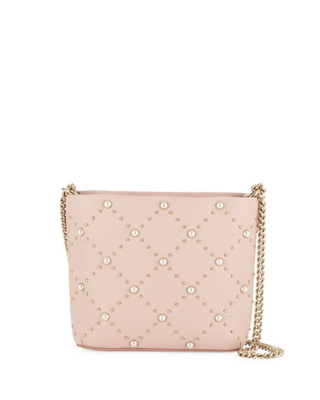 Kate Spade Leathers hayes street leather bucket bag w/ pearly beads