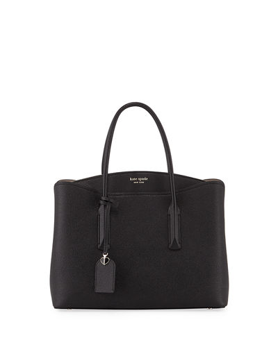 margaux large leather satchel bag