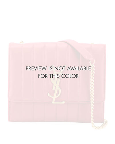 9398f9178a Vicky Monogram YSL North/South Quilted Leather Wallet on Chain