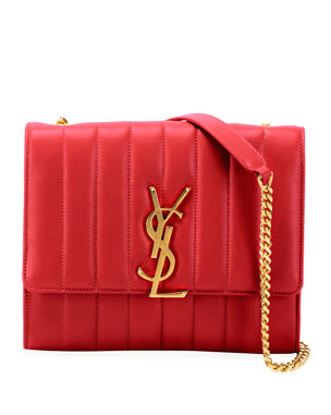 Saint Laurent Vicky Monogram YSL North South Quilted Leather Wallet on Chain 9c6a3d2080a11