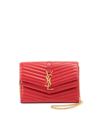 Sulpice Double Flap Crossbody Wallet on a Chain