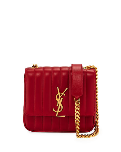 d3fb8aa816 Quick Look. Saint Laurent · Vicky Medium YSL Monogram Chain Crossbody Bag