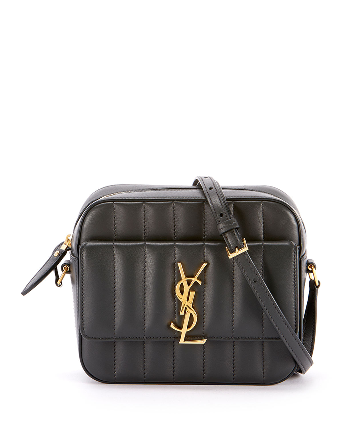 cc2c5fd86 Saint Laurent Vicky Medium YSL Monogram Quilted Camera Bag | Neiman ...