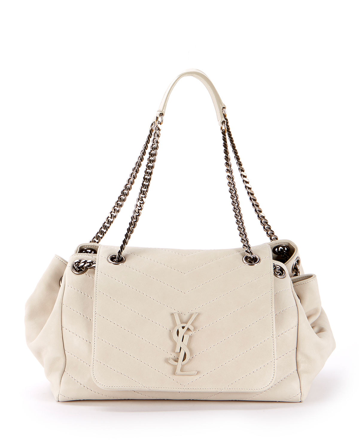 657e3268482 Saint Laurent Nolita Large Monogram YSL Double Chain Shoulder Bag ...