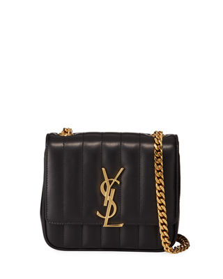 Vicky Monogram Ysl Small Quilted Leather Crossbody Bag by Saint Laurent